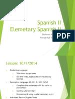 lesson reviewing regular verbs and ser y estar