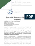 Ergos 04_ Acerca de Las Fajas Lumbares