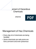 Handling of Hazardous Chemical Chlorine