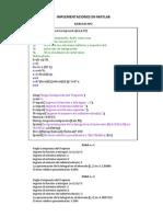 Implementaciones en Matlab