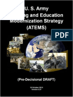 U.S. Army Training and Education Modernization Strategy