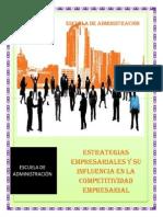 Estrategias Empresariales y Su Influencia Enla Competitividad Empresarial
