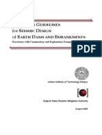 Seismic Design of Earth Dams and Embankments