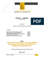 Proyecto Fisica II - Calculo de Potencia de Bomba