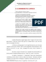 resumo - introdução ao estudo do direito - hermenêutica jurídica - prof ª alessandra moraes teixeira