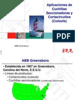 Aplicaciones de Cuchillas Seccionadoras y Cortacircuitos (Cutouts