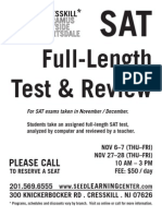 Cresskill - SAT Test Review Flyer