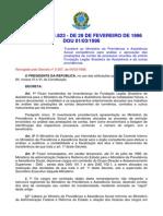 Decreto Nº 1.823 de Fevereiro de 1996