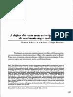 A Defesa Das Cotas Como Estratégia Política Do Movimento Negro Contemporâneo. REH, Vol.1, n.37