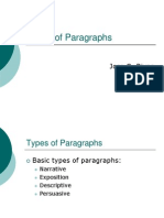 paragraph types