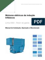 WEG Motor Eletrico de Inducao Trifasico Linha w60 Rotor de Gaiola Horizontal 12720793 Manual Portugues Br