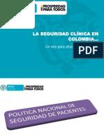 AVANCES DE LA SEGURIDAD DE PACIENTES EN COLOMBIA  2014.pptx