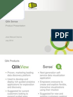 Qlik Sense Presentation | Cloud Computing | Application Software