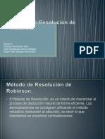 Método de Resolución de Robinson