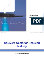 Chap013 Relevant Costs for Decision Making
