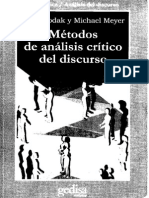 Metodos de Analisis Critico Del Discurso