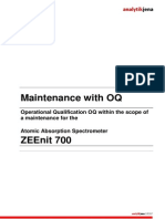 Analytikjena ZEEnit 700 - Maintenance OQ