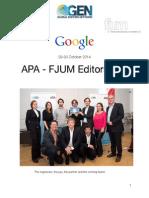 White Paper of the APA - FJUM Editors Lab