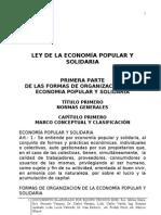 Ley de la Economía Popular y Solidaria de Ecuador