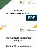 CAPSULAS PERIO DO  INTERSEMESTRAL