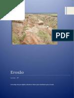 Trabalho Fundamentos de Geociencia - Erosão