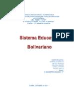 Trabajo de Sistema Educativo Bolivariano