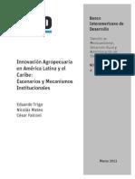 Innovacion Agropecuaria en America Latina y El Caribe