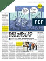 FMLIN Justifica 1500 Nuevos Burócratas