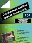 Condiciones Básicas Democracia 9º