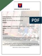 Doctrina Social y Movilidad Humana - Imigración.