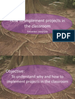 Implement Projects in the Classroom