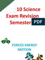 y10 semester 2 exam revision