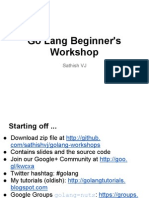 Go Lang Beginner's Workshop