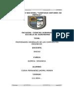 QUIMICA ORGANICA (segundo informe)- UNASAM