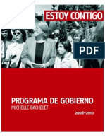 Programa Gobierno Bachelet 2006-2010