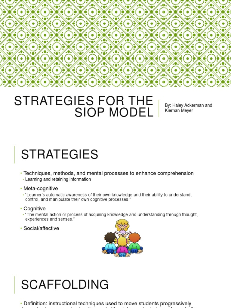 Strategies For The Siop Model Learning Emergence