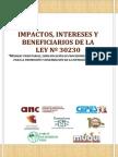 Impactos, Intereses y Beneficiarios de La Ley 30230