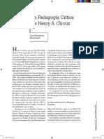 La Pedagogia Critica de Henry Giroux