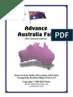 004 Advance Australia Fair [B-Flat] CB Score and Parts Plus Strings PDF