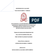 Evaluación de La Calidad Microbiológica de Leches Saborizadas Comercializadas en Los Principales Supermercados Del Distrito Dos de La Zona Metropolitana de San Salvador