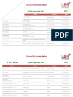 2014 PNL Todas as Listas Livros Recomendados