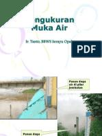materi kuliah hidrometri - Pengukuran Muka Air