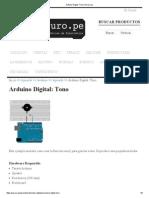 Arduino Digital_ Tono _ Paruro