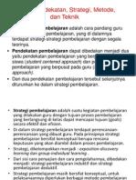 Definisi Model, Pendekatan, Strategi, Metode,