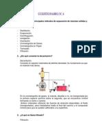 CUESTIONARIO 4 Quimica