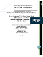 PMWHR Herd Management Area Plan and Environmental Assessment