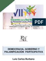 Democracia, Gobierno y Planificación Participativa