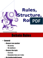 Rules, Format, Roles
