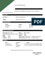 Basic Resume Pattern