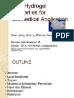 PVA Hydrogel Properties for Biomedical Application